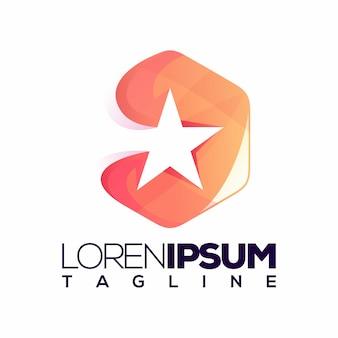 Star logo vector, template