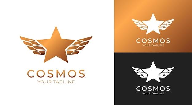 스타 로고 벡터. 모든 비즈니스에 대한 별 기호가있는 보편적 인 추상 로고. 별표-지도자, 성공 및 힘.