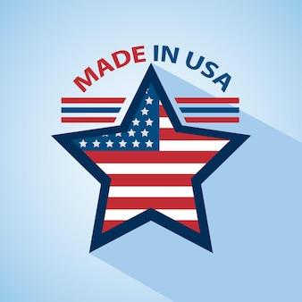 Star made in usa icon