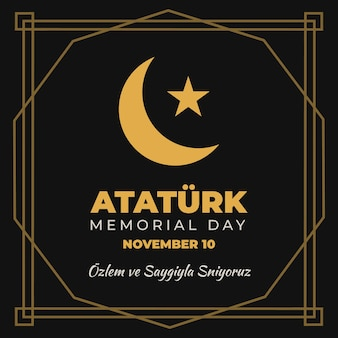 Giorno commemorativo di ataturk stella e luna
