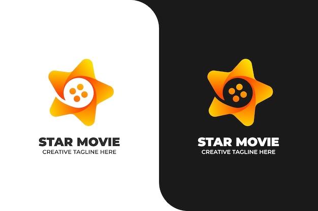 Star movie strip media cinema logo