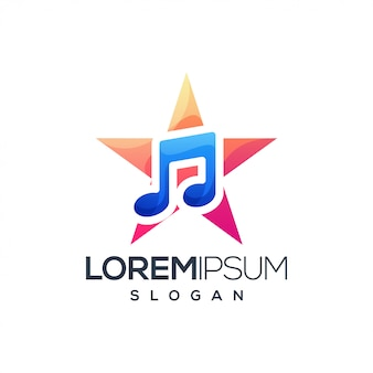 Star music colorful gradient logo