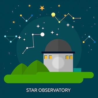 Star observatory background design