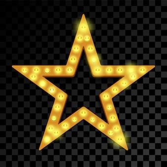 Звезда лампочки лампочки неоновая вывеска