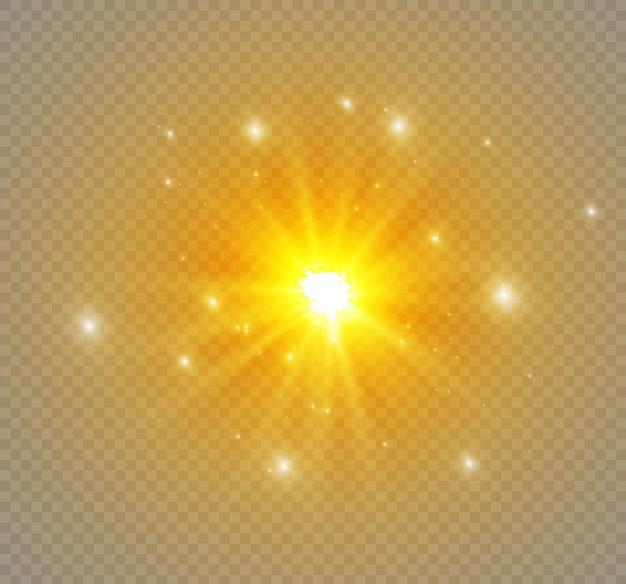 투명한 배경에 별, 조명 효과