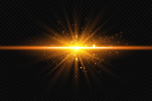 透明な背景に星