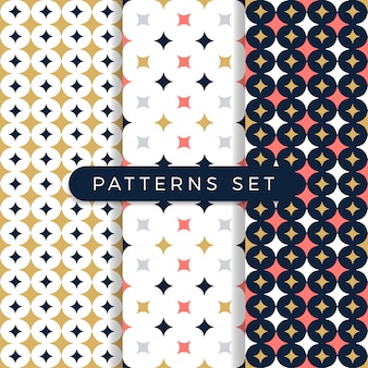 Star pattern set. ornamental seamless space pattern