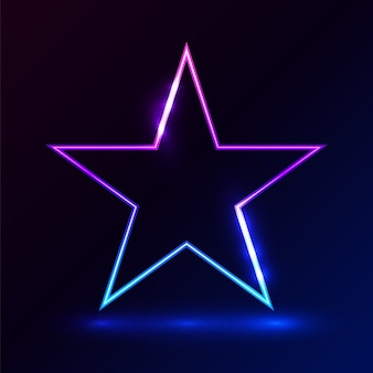 Star pink blue light on dark background