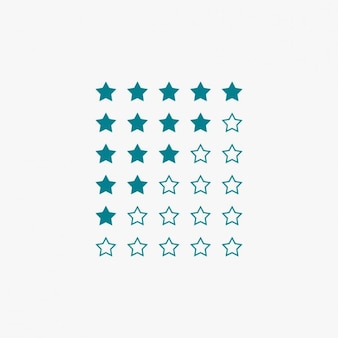 Star rating in blue color