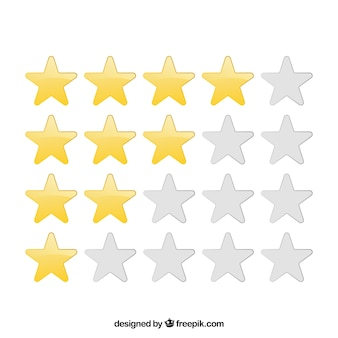 Star rating design of four