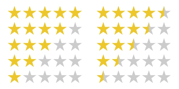 Star rating symbols