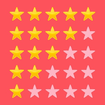 Star rating. vote like ranking.