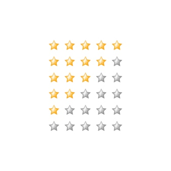 Star rating web feedback symbol