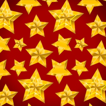 Star realistic metallic golden isolated yellow 3d pattern christmas