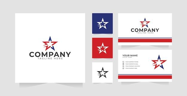 スターロックのロゴデザインのインスピレーションと名刺