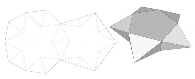 Star shaped box die cut template