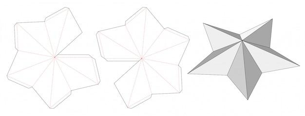 Star shaped die cut template