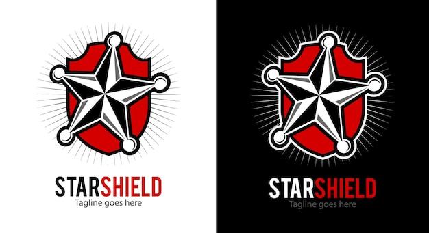 Star shield vector logo