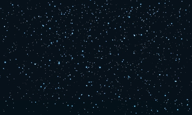 Звездное небо. космические звезды фона. блеск частиц