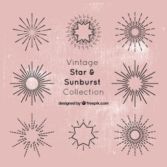 Star and sunburst collection