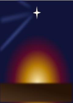 Star above a sunset