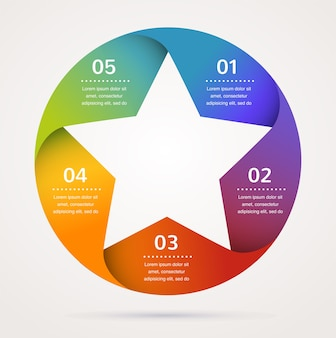 Star  template and infographics, abstract background