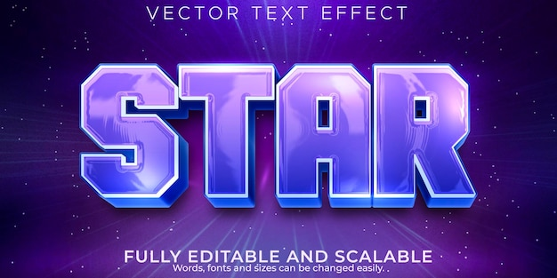 Star text effect, editable space and galaxy text style