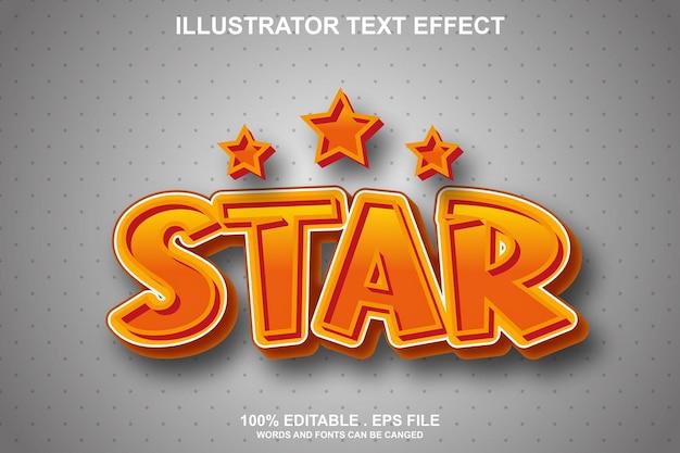 Текстовый эффект звездочки редактируемый