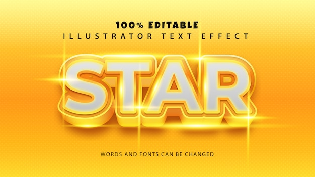 Star text style effect,editble text