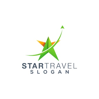 Star travel logo design