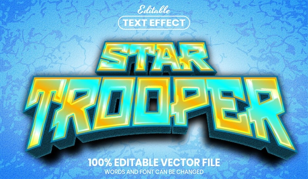 Star trooper text, editable text effect