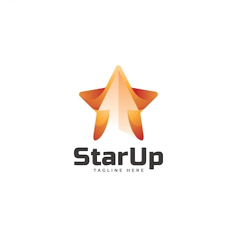 Star and upward arrow logo