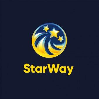 Star way logo template