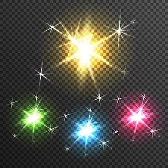 Starburst light effect transparent image