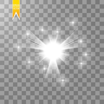 Starburst with sparkles on transparent background.
