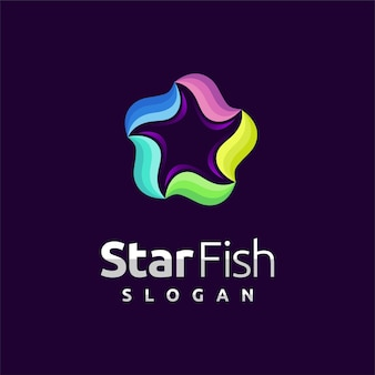 Starfish logo with wave element