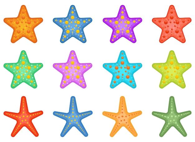 Изолированная иллюстрация дизайна пакета морских звезд