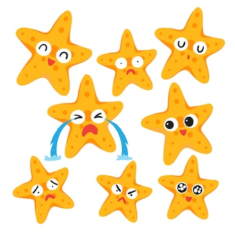 Starfish vector collection design