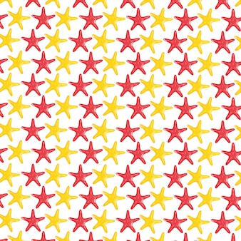 Starfishes shells animals pattern background