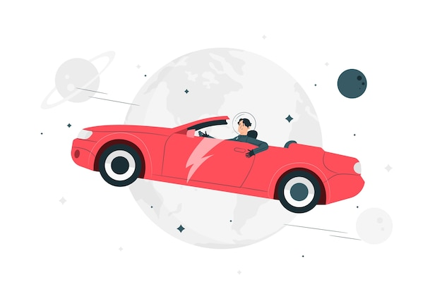 Starman концепция иллюстрации