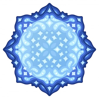 Starry blue design with round copy space