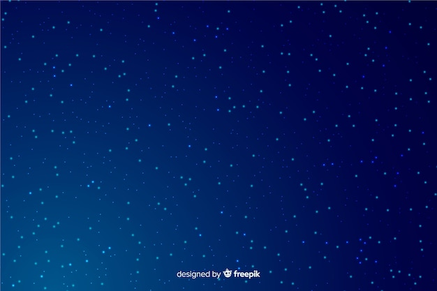 Gradiente blu del fondo di notte stellata