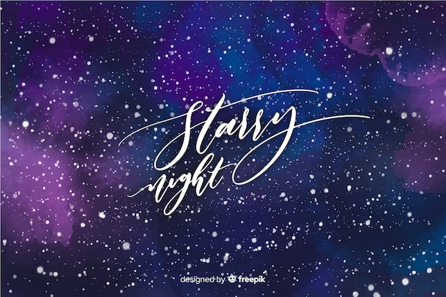 Starry night background