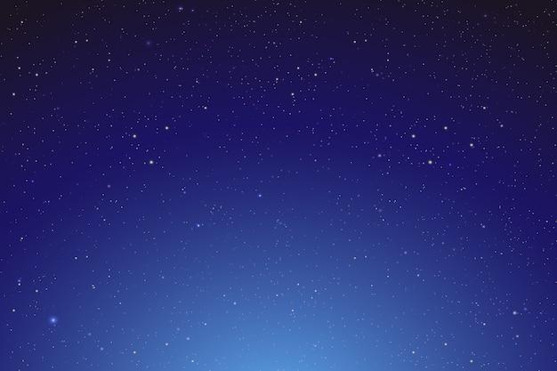 星月夜輝く空