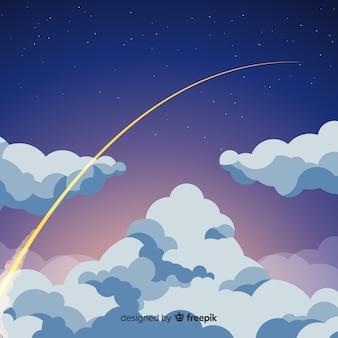 Priorità bassa stellata del cielo notturno