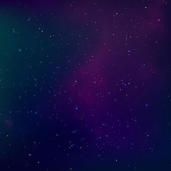 별이 빛나는 밤하늘. 우주 성운. 우주 공간과 은하수. 삽화
