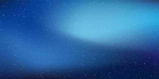 グラデーションの空に輝く星と星空