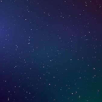 별이 빛나는 하늘 색 배경. 어두운 밤하늘. 빛나는 별이있는 무한 공간. 벡터