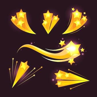 Stars burst cartoon elements