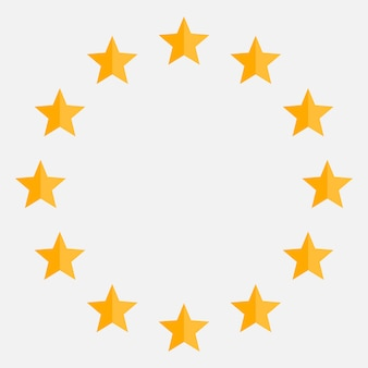 Stars in circle icon.